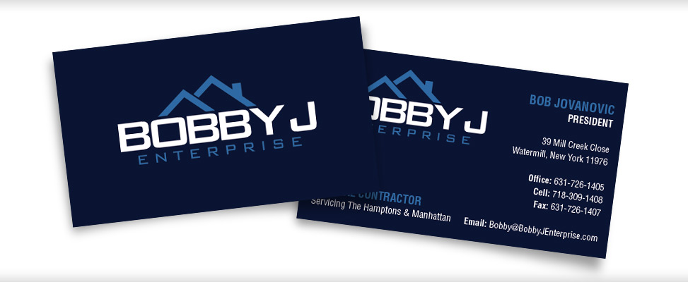 Business Card Design for Long Island Contractor