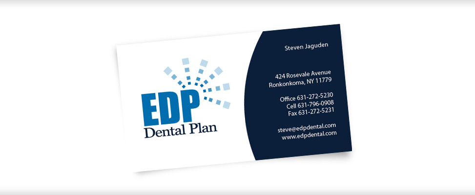Business Card Design for Dental Plan Company In Suffolk County New York