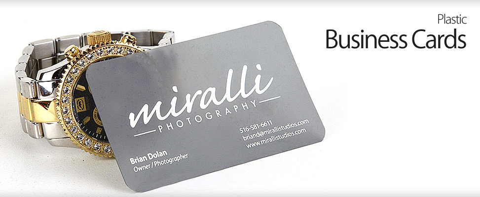 Plastic Business Cards for Long Island Wedding Photography Studio