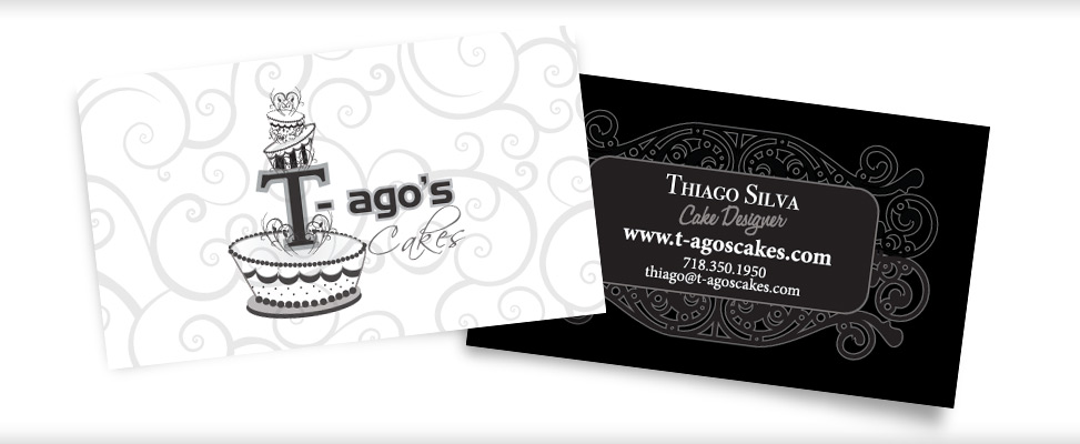 Business Card Design for Cake Designer in Queens New York