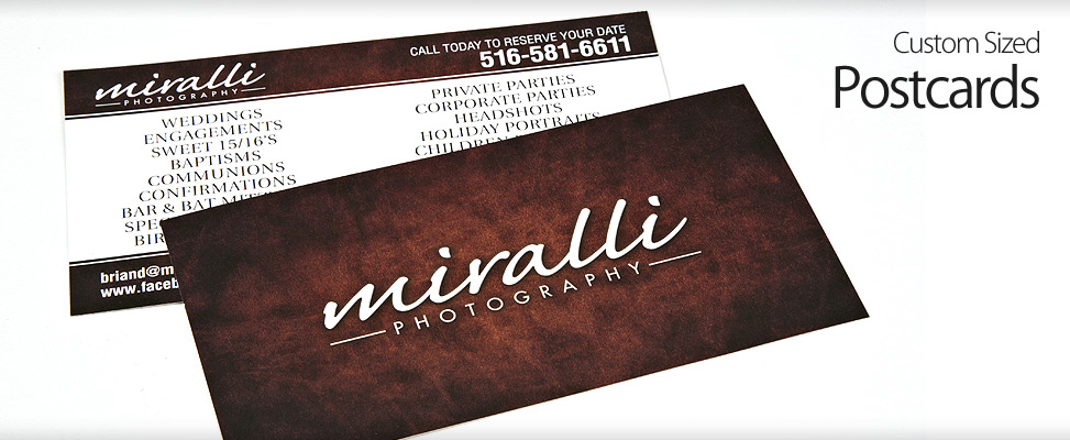 Postcard Design and Printing for Affordable Long Island Wedding Photographer