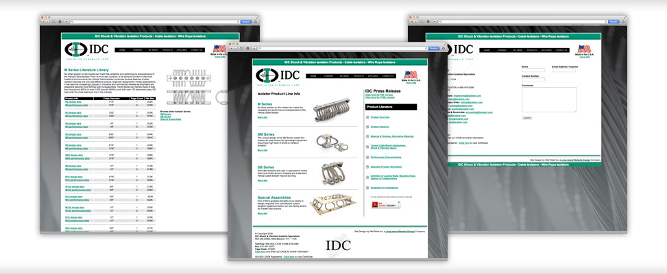 custom website design for industrial company in west babylone long island